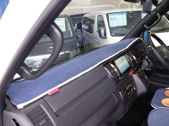 スーパーGL ダークプライムII ロングボディ クラフトプラスパッケージ デニム内装 ナビ 後席フリップダウンモニター デニムベッドキット TRDフロントスポイラー 4WD 寒冷地仕様(26枚目)