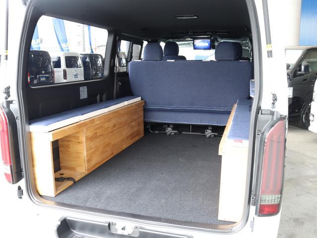 スーパーGL ダークプライムII ロングボディ クラフトプラスパッケージ デニム内装 ナビ 後席フリップダウンモニター デニムベッドキット TRDフロントスポイラー 4WD 寒冷地仕様(28枚目)