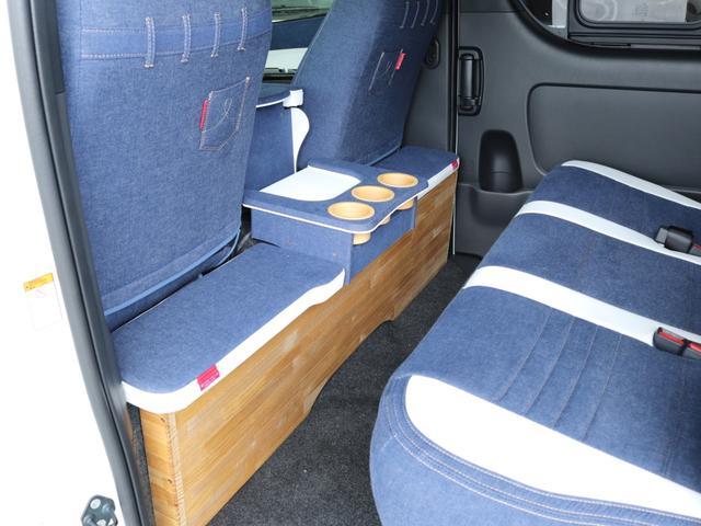 スーパーGL ダークプライムII ロングボディ クラフトプラスパッケージ デニム内装 ナビ 後席フリップダウンモニター デニムベッドキット TRDフロントスポイラー 4WD 寒冷地仕様(34枚目)