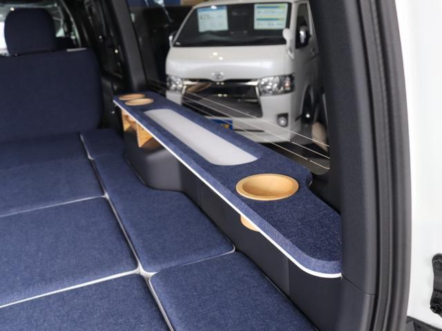 スーパーGL ダークプライムII ロングボディ クラフトプラスパッケージ デニム内装 ナビ 後席フリップダウンモニター デニムベッドキット TRDフロントスポイラー 4WD 寒冷地仕様(35枚目)