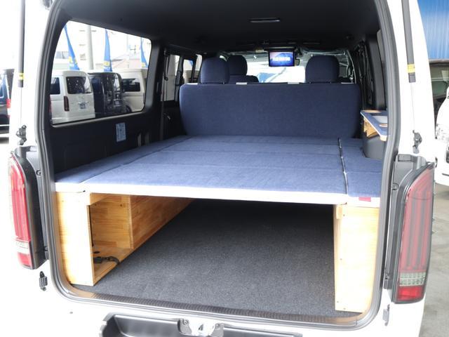 スーパーGL ダークプライムII ロングボディ クラフトプラスパッケージ デニム内装 ナビ 後席フリップダウンモニター デニムベッドキット TRDフロントスポイラー 4WD 寒冷地仕様(36枚目)
