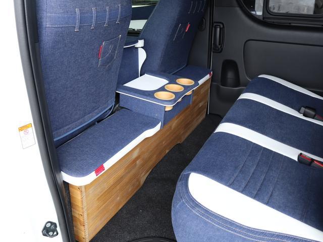 スーパーGL ダークプライムII ロングボディ クラフトプラスパッケージ デニム内装 ナビ 後席フリップダウンモニター デニムベッドキット TRDフロントスポイラー 4WD 寒冷地仕様(39枚目)