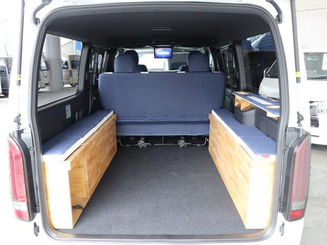 スーパーGL ダークプライムII ロングボディ クラフトプラスパッケージ デニム内装 ナビ 後席フリップダウンモニター デニムベッドキット TRDフロントスポイラー 4WD 寒冷地仕様(41枚目)