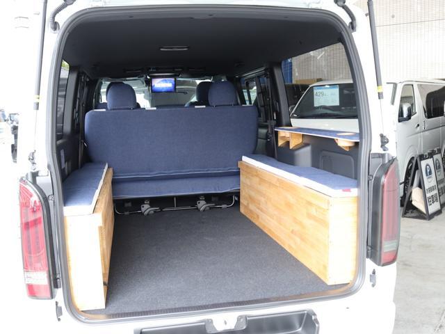 スーパーGL ダークプライムII ロングボディ クラフトプラスパッケージ デニム内装 ナビ 後席フリップダウンモニター デニムベッドキット TRDフロントスポイラー 4WD 寒冷地仕様(46枚目)