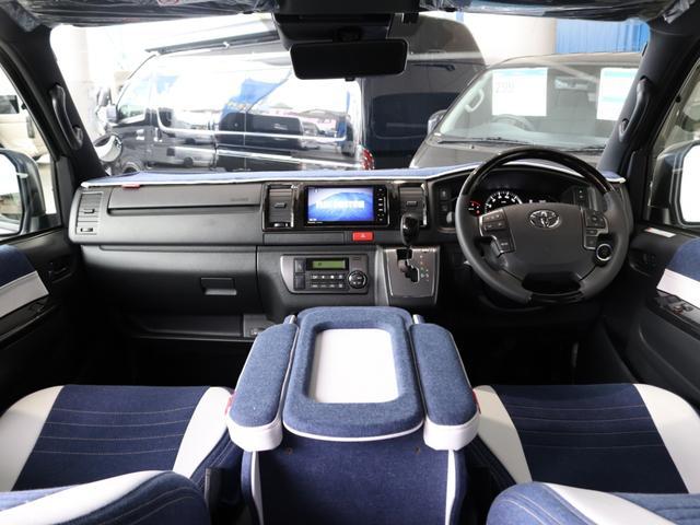 スーパーGL ダークプライムII ロングボディ クラフトプラスパッケージ デニム内装 ナビ 後席フリップダウンモニター デニムベッドキット TRDフロントスポイラー 4WD 寒冷地仕様(49枚目)