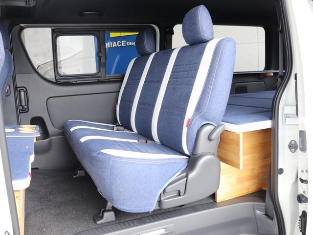 スーパーGL ダークプライムII ロングボディ クラフトプラスパッケージ デニム内装 ナビ 後席フリップダウンモニター デニムベッドキット TRDフロントスポイラー 4WD 寒冷地仕様(54枚目)