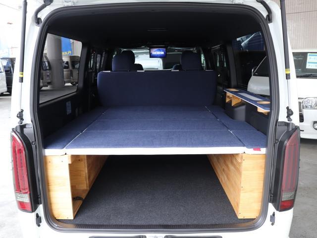 スーパーGL ダークプライムII ロングボディ クラフトプラスパッケージ デニム内装 ナビ 後席フリップダウンモニター デニムベッドキット TRDフロントスポイラー 4WD 寒冷地仕様(59枚目)