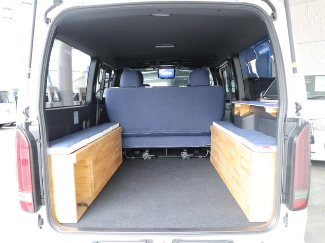 スーパーGL ダークプライムII ロングボディ クラフトプラスパッケージ デニム内装 ナビ 後席フリップダウンモニター デニムベッドキット TRDフロントスポイラー 4WD 寒冷地仕様(60枚目)