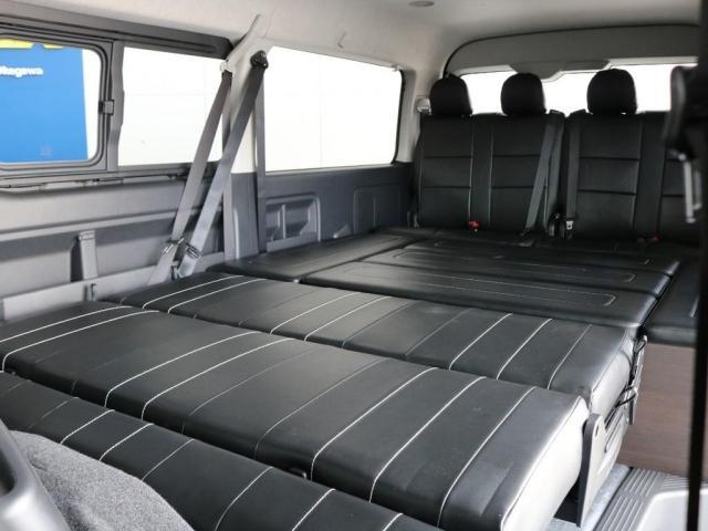 GL アレンジAS内装架装ローリング ベッドキット セカンドシート3人掛け 10インチパナソニックナビ ブルーレイ再生 後席フリップダウンモニター パノラミックビューモニター(9枚目)