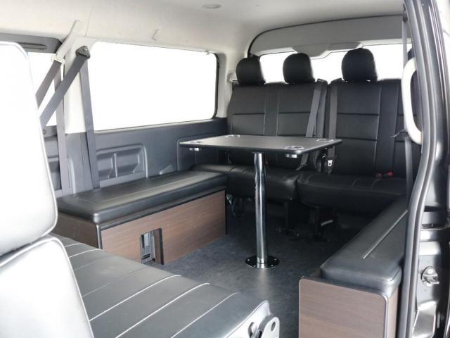 GL アレンジAS内装架装ローリング ベッドキット セカンドシート3人掛け 10インチパナソニックナビ ブルーレイ再生 後席フリップダウンモニター パノラミックビューモニター(10枚目)