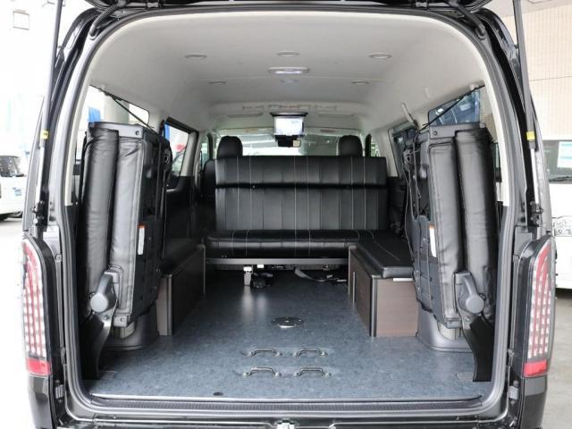 GL アレンジAS内装架装ローリング ベッドキット セカンドシート3人掛け 10インチパナソニックナビ ブルーレイ再生 後席フリップダウンモニター パノラミックビューモニター(11枚目)