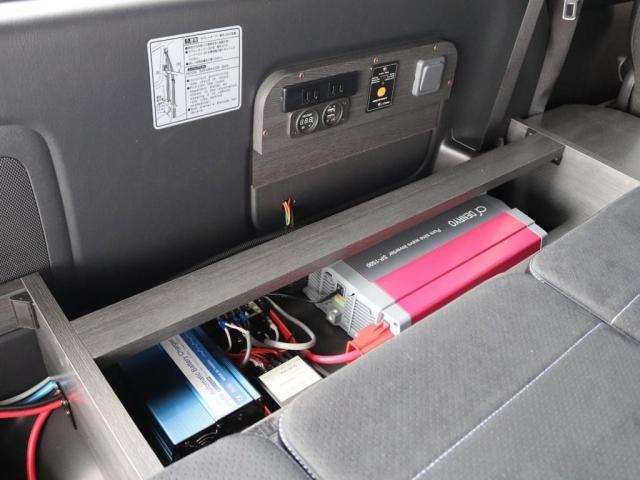スーパーGL ダークプライムII バージョン4 エレコサブバッテリーシステム 外部電源ソケット フローリング ベッドキット 車中泊仕様 FLEXカスタム(9枚目)