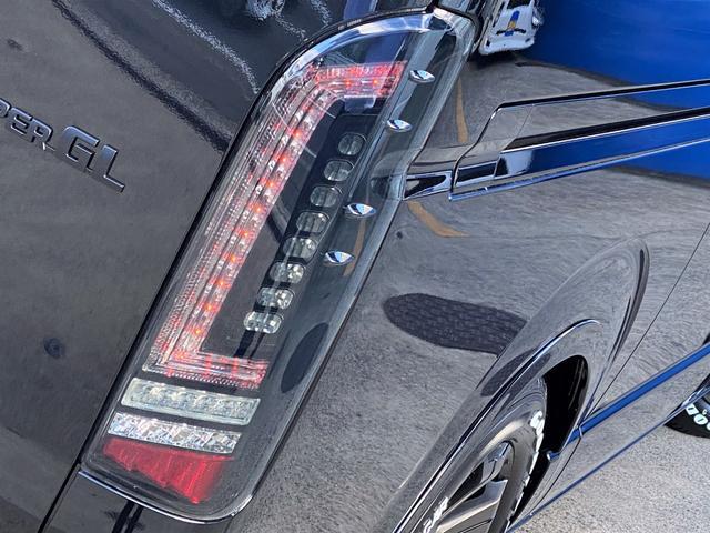 スーパーGL ダークプライムII FLEXフルカスタムパッケージ ローダウン フロントスポイラー オーバーフェンダー 17インチアルミ LEDテール フルセグナビ ETC 両側パワースライドドア フロント サイド リアカメラ(26枚目)