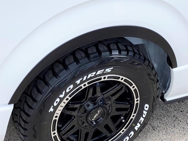 スーパーGL ダークプライムII FLEXベットキットカスタム オーバーフェンダー 16インチアルミ LEDテール フルセグナビ ETC ベットキット LEDヘッドライト 両側パワースライドドア スマートキー ディーゼルターボ4WD(46枚目)