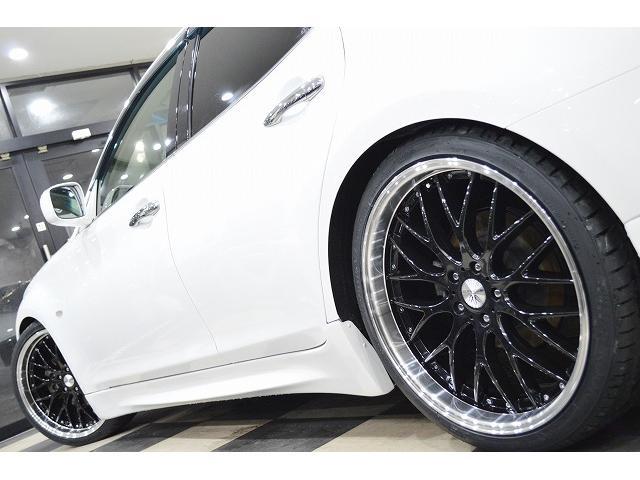日産 フーガハイブリッド ベースグレード 新品21AW エアロ 車高調 イカリング