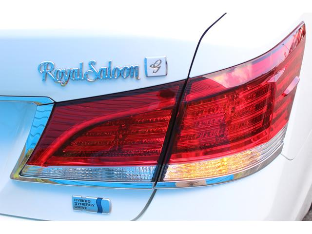 ロイヤルサルーンG 禁煙車 ムーンルーフ アドバンストPKG  レザーシートPKG 純正SDナビ BSM レーダークルーズ ETC2,0 ドライブレコーダー LEDライト バックカメラ フルセグ キャンセラー付(76枚目)