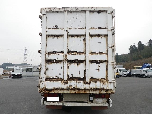 三菱ふそう スーパーグレート 鉄箱付 低床4軸 リヤリーフサス