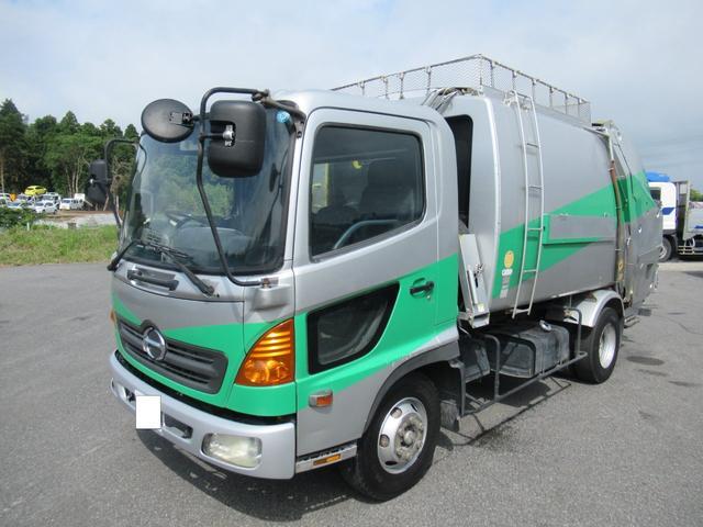 極東製 塵芥車 容積8.0M3 プレス式 汚水タンク(3枚目)