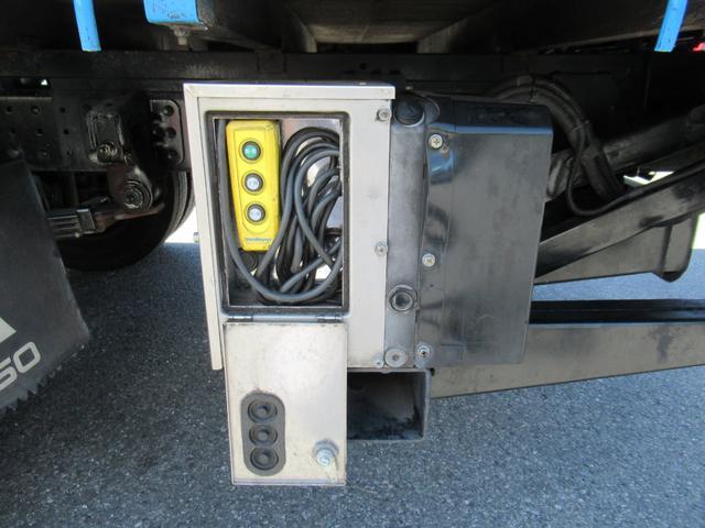 ワイド幅   超ロング   2重煽り   マルチゲート付平ボデー  タイヤサイズ 205/75R16  床鉄板張り  煽り開閉補助装置1対  新明和製  鉄製  マルチゲート(35枚目)