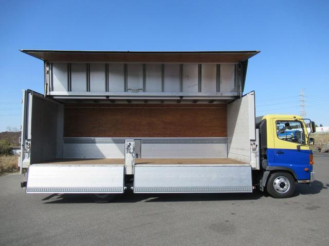 標準幅   ベッドレスキャビン   アルミウイング   床木製   センタービームレス   ラッシング1段   中柱抜差し式   庫内灯3箇所(31枚目)