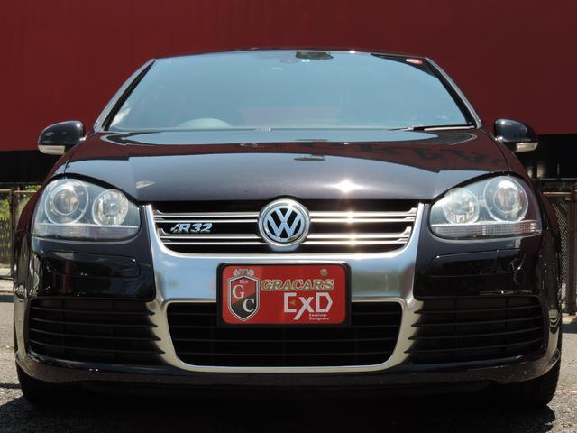 フォルクスワーゲン VW ゴルフ R32 純正HDDナビ 黒革 HID