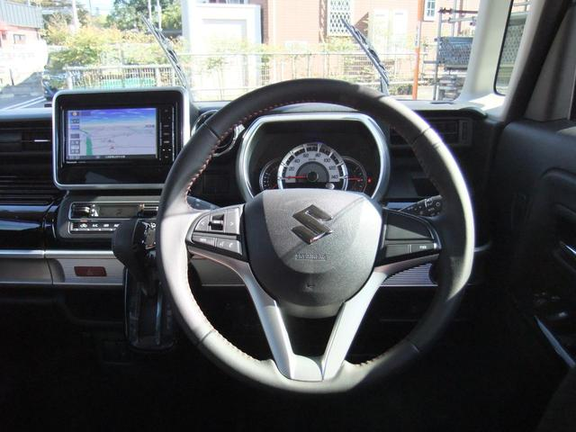 ハイブリッドXS 両側パワースライドドア スズキセーフティーサポート ワンオーナー アイドリングストップ シートヒーター コーナーセンサー パナソニック製ナビ オート格納ミラー バックカメラ スマートキー ETC(5枚目)