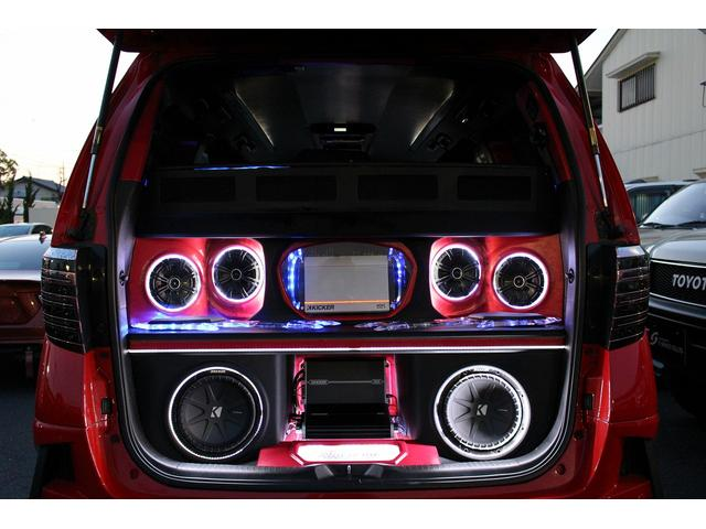 240X Make-up+JOULEエアロ IDEALエアサス RAYS22インチAW ALPINEツインモニター ラゲッジスペースウーファー.スピーカー.アンプ作り込み カスタムインテリア 両側パワードア(2枚目)