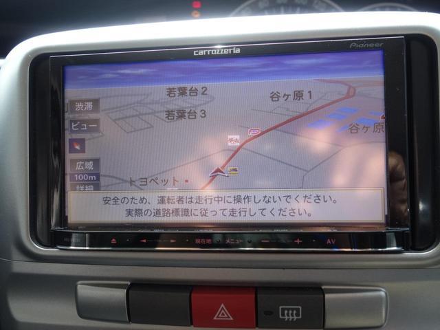 カスタムXリミテッド 社外ナビ 地デジ Bluetooth インテリキー パワースライドドア 社外アルミホイル(15枚目)