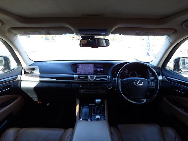 レクサス LS LS460 バージョンC Iパッケージ CPO車 茶革 SR