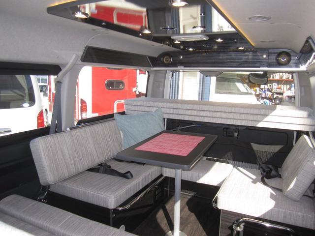 ファミリーワゴン走行充電サブバッテリー外部電源2段ベッド(2枚目)