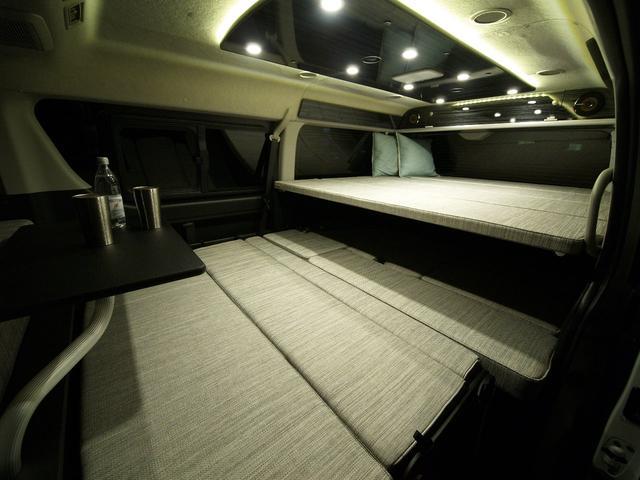 ファミリーワゴン走行充電サブバッテリー外部電源2段ベッド(3枚目)