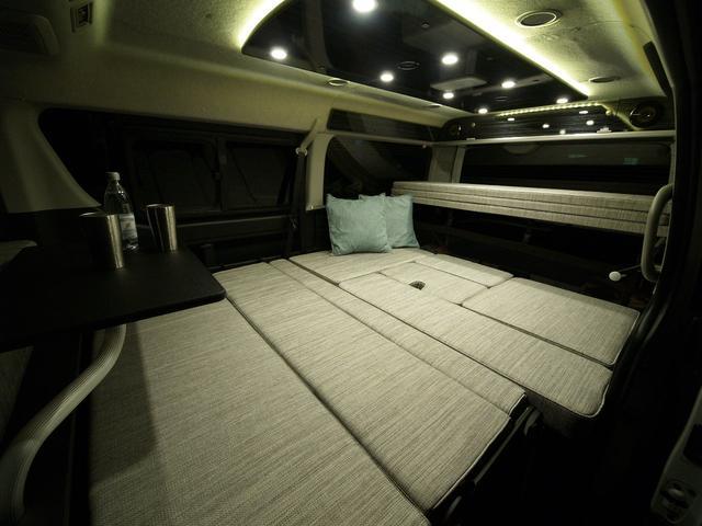 ファミリーワゴン走行充電サブバッテリー外部電源2段ベッド(4枚目)