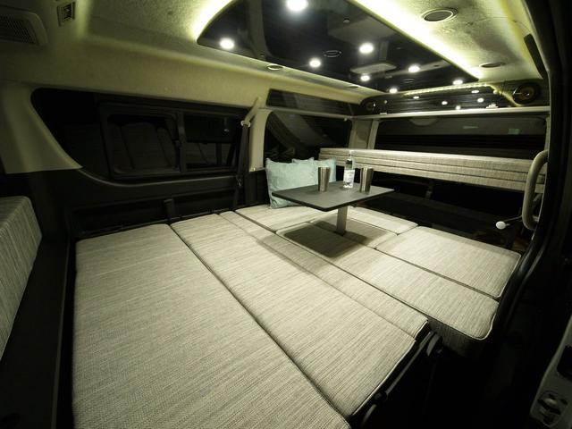 ファミリーワゴン走行充電サブバッテリー外部電源2段ベッド(5枚目)