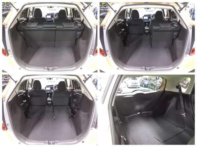 【シートアレンジ】後席はワンアクションで多彩なシートアレンジを可能にする、ダイブダウン方式です。広大なフラットな荷室として使えます!