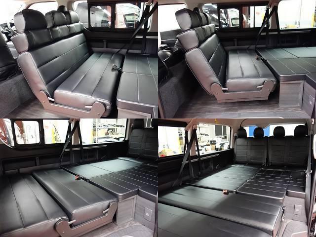 トヨタ ハイエースワゴン ワゴンGL4WDシートアレンジVER2床張りフルフラット!