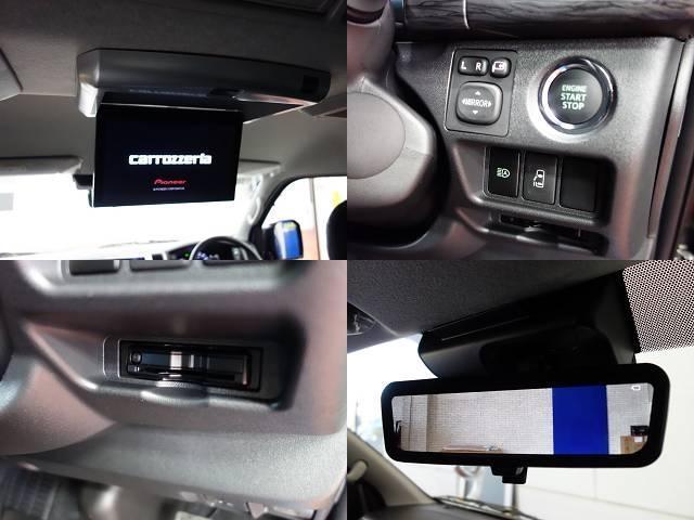 GL FLEXオリジナルシートアレンジAS施工オリジナル17インチアルミ1.5インチローダウンオリジナルフロントスポイラーオリジナルオーバーフェンダーパイオニア製SDナビフリップダウンモニター装着済み(18枚目)