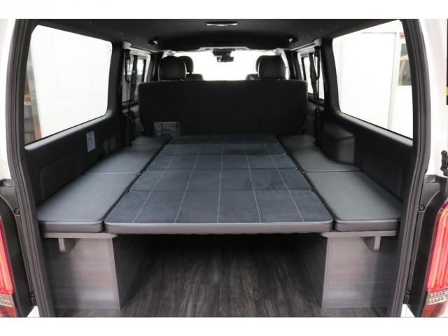 スーパーGL ダークプライムII フレックスオリジナルVer4ベットKITリア全面床張り施工済みオリジナルフロントスポイラー玄武1.5インチローダウンKITオリジナル16インチアルミナスカータイヤ16インチオリジナルLEDテール装備(3枚目)