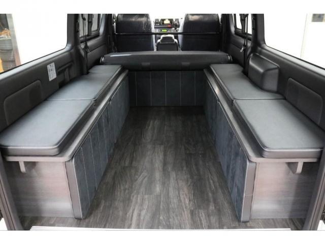 スーパーGL ダークプライムII フレックスオリジナルVer4ベットKITリア全面床張り施工済みオリジナルフロントスポイラー玄武1.5インチローダウンKITオリジナル16インチアルミナスカータイヤ16インチオリジナルLEDテール装備(18枚目)