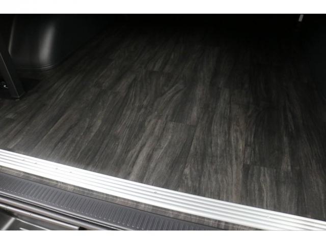 スーパーGL ダークプライムII 415コブラフロントスポイラー玄武製2インチローダウンKITオリジナル17インチアルミナスカータイヤ17インチオリジナルテールライトリア全面床張り施工済みオリジナルベットKIT高さ調整機能付き装備(19枚目)