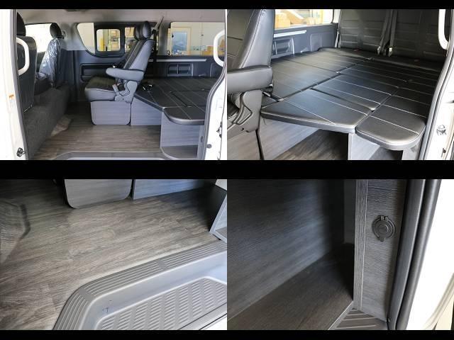 GL ロング フレックスオリジナルVer1シートアレンジ施工オリジナルフロントスポイラーオーバーフェンダー玄武2インチローダウンKITオリジナル17インチアルミナスカータイヤ17インチオリジナルLEDテール装備(19枚目)