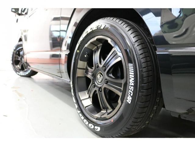 スーパーGL ダークプライムII リア全面床張り施工済みオリジナルベットKITタイプII高さ調整機能付きオリジナルフロントスポイラーオリジナル17インチアルミナスカータイヤ17インチ玄武2インチローダウンKITバンプラバー交換済み(3枚目)