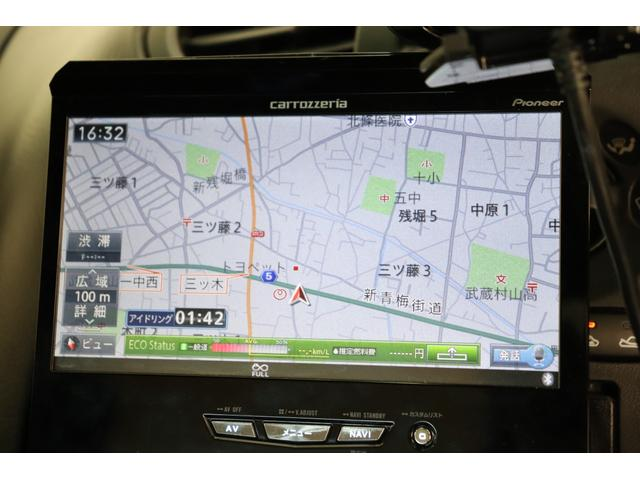 カロッツェリア製SDナビ装着致しておりますので遠方への運転もサポート致します。