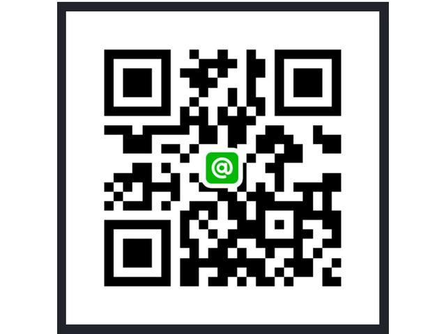 QRコードをスマホのカメラで読み取っていただくだけでライン@をご登録頂けます!詳細画像やご質問などにも迅速にお答えできるので大変便利ですよ♪