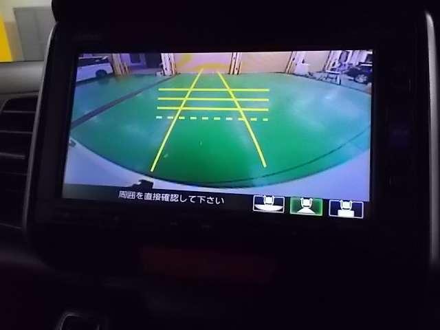 バックカメラ付きでバック走行時や駐車時などで大変役立ちます!真後ろの障害物も発見できます。(角度により見えにくい部分が発生致しますのでかならず目視での御確認をして下さい)