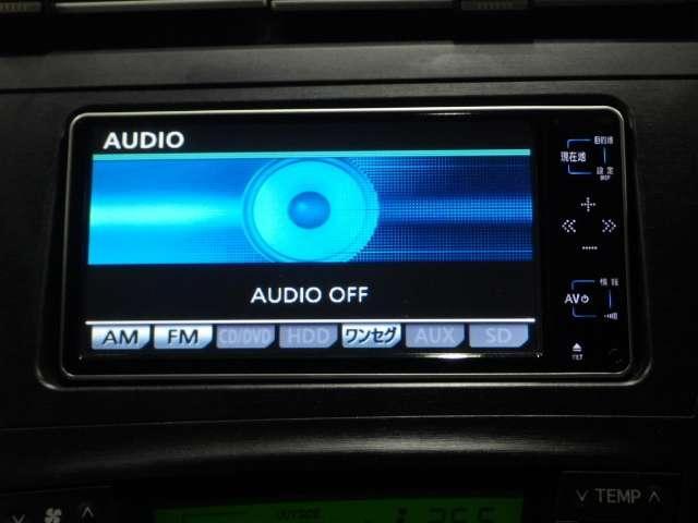 ラジオやCDはもちろん、DVDビデオ再生やCD録音、ワンセグTVなど充実しております!