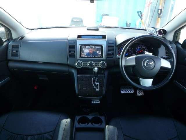マツダ MPV 23T 後期仕様 車高調19AW 両側PSD HDDナビTV