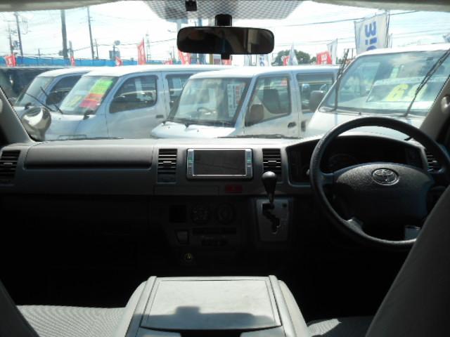 トヨタ ハイエースバン ロングDX GLパッケージ 新品AW・タイヤ 純ナビ ETC