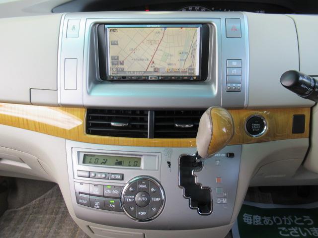 トヨタ エスティマ アエラス HDDナビ 両側パワスラ ETC