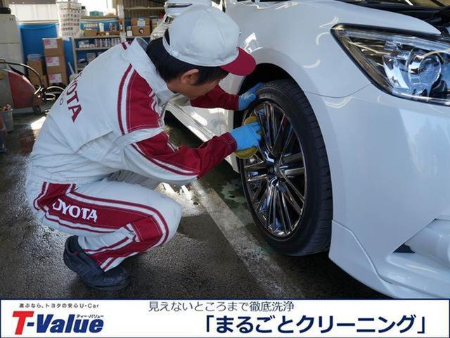 【まるごとクリーニング】タイヤ・ホイルまで、しっかり洗浄。