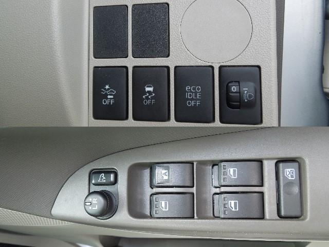 衝突回避支援装置、横滑り防止装置、エコアイドルキャンセル機能等の先進技術搭載。運転席側のみ使い勝手の良いALL-AUTOのパワーウインドウ付。電動格納式ドアミラー&ドアミラー調整機構も付いています。